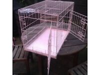 Pink Dog / Cat Cage