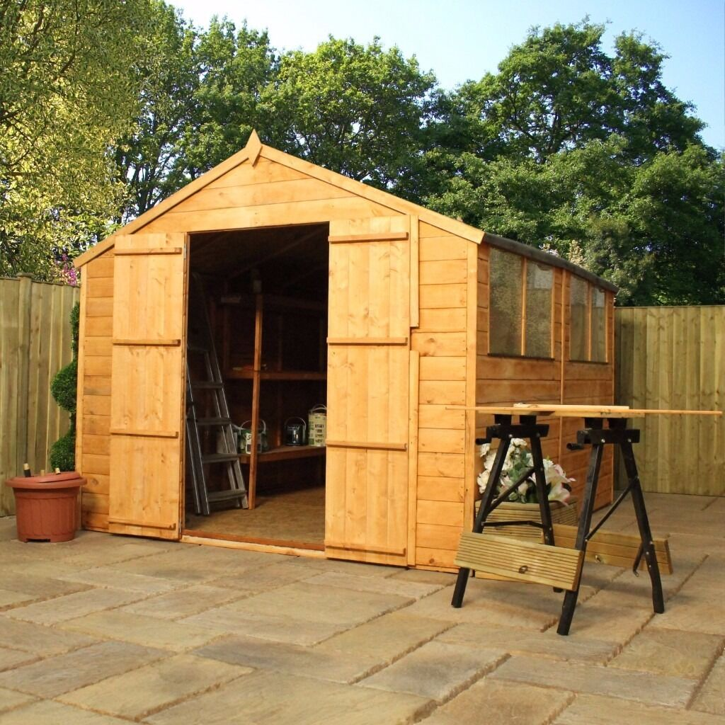 garden shed apex roof 10x8 brand new 59999 garden sheds edinburgh - Garden Sheds Edinburgh