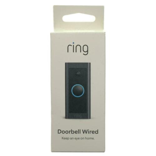 Ring Video Doorbell Wired - Black- NEW IN BOX- FREE SHIPPING