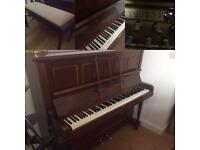 Second hand piano with duet stool