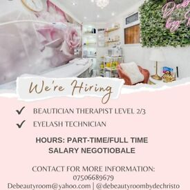 Beauty therapist level 2/3 wanted