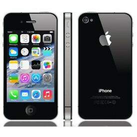Apple iPhone 4 - 8GB - Black (EE) Mint Condition with genuine UK Apple plug and Charger