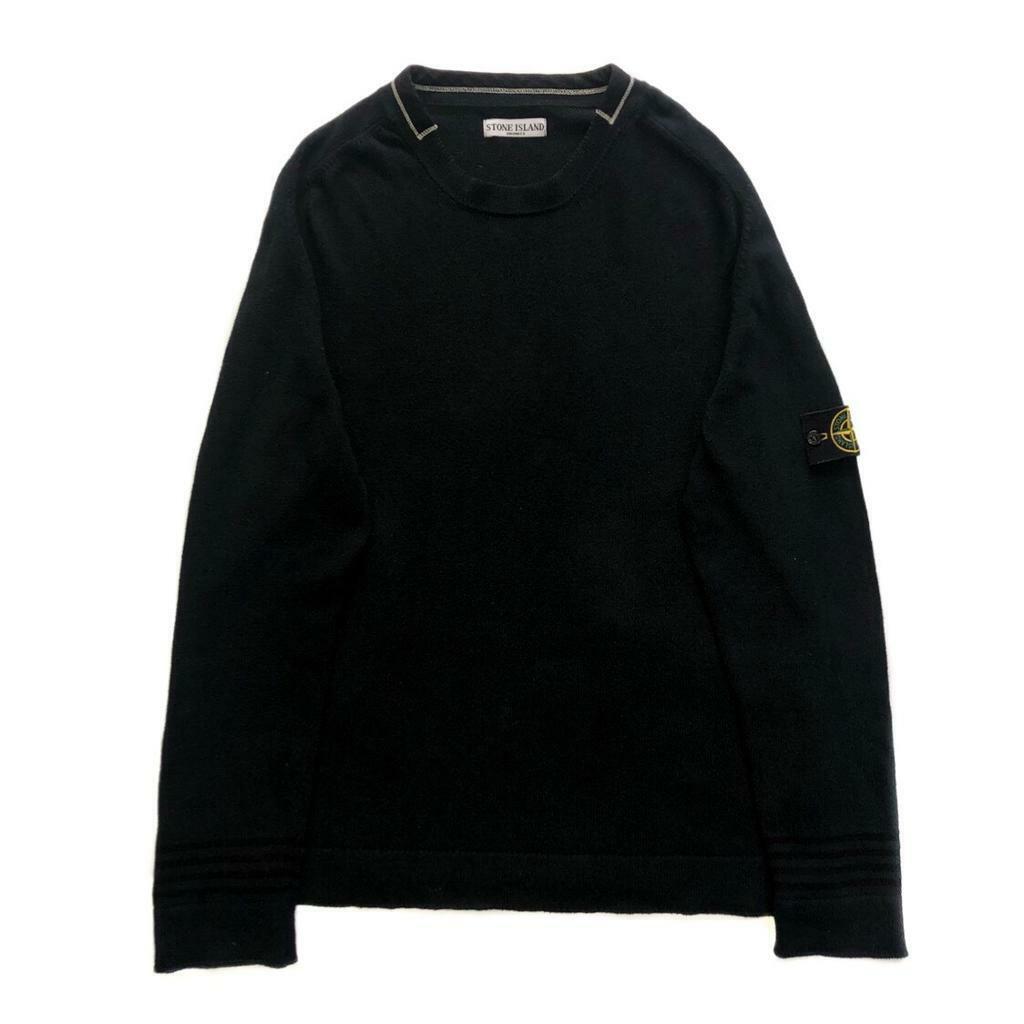 7b1173342aeb Vintage Stone Island Jet Black Sweatshirt - Size Large - Excellent Condition