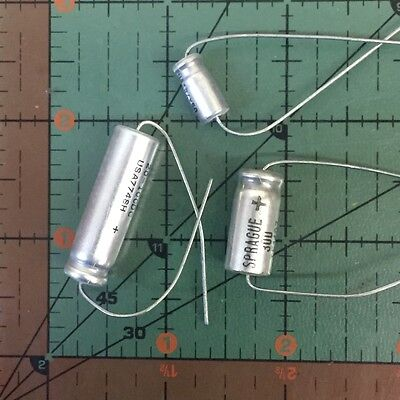 Sprague Axial Electrolytic Capacitor 100uf 50v Te1309 105 Free Ship 2pcs