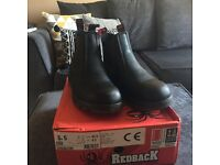 Redback Safety Boots size 8.5, worn once!