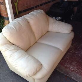 2 and 3 piece leather sofa's