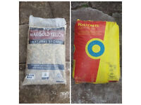 1 Bag of chippings and one bag of postcrete £10
