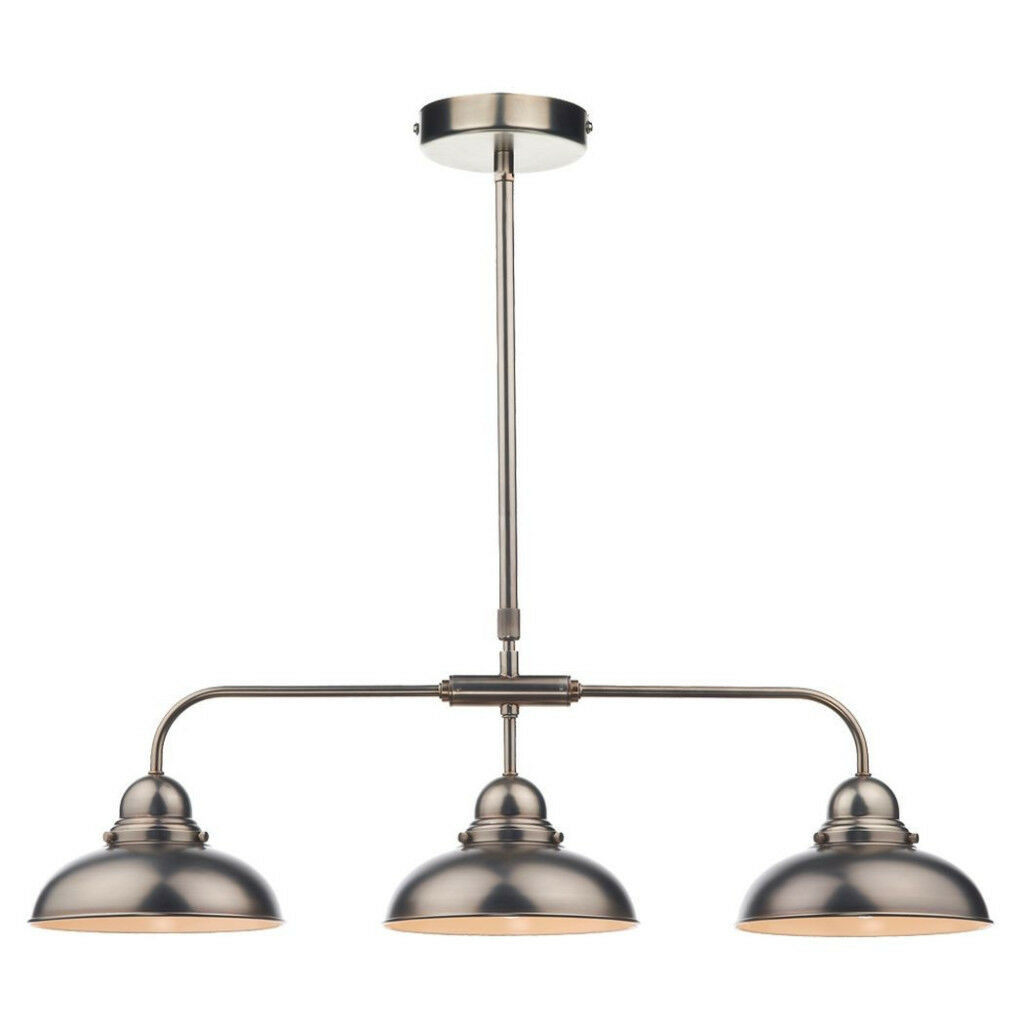 3 light ceiling light, antique chrome