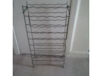 Wine Rack - free standing or can be attached to wall - metal - 50 bottle capacity