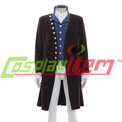 Colonial Victorian Edwardian Frock Coat Waistcoat or vest shirt cravat jabot - Mens Jabot Shirt