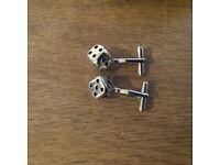 Dice design cufflinks