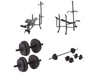 Pro Fitness Lat and Curl Bench With 53kg Weights Package(brand New & Flatpacked)