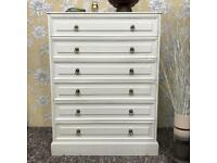 White colour chest of drawers tall