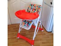 Kidicare recliner high chair