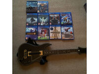 PS4 10 game bundle plus Guitar Hero Live Controller