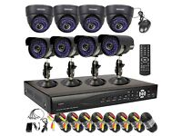 ��� 8 CCTV Dome/Bullet Cameras, 8 Channel DVR with 2TB Hard Drive (Full HD System)