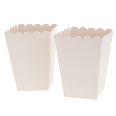 12x Weiß Popcorn Tasche Box Snacktüten Süßigkeiten Schachtel Nachtisch