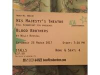 Blood Brothers Tickets for Aberdeen SOLD