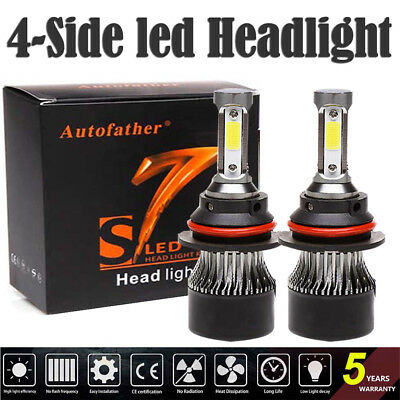 (2200W LED Headlight 9007 HB5 Hi/Lo Bulbs 6500K for Ford F-150 92-98 Ranger 93-11)