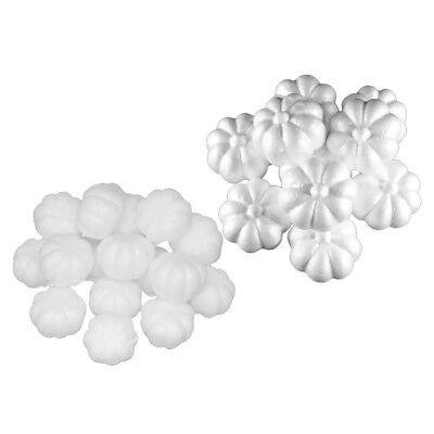 30pcs Mixed Polystyrene Foam Halloween Pumpkin White Styrofoam Balls Crafts](Styrofoam Pumpkin)