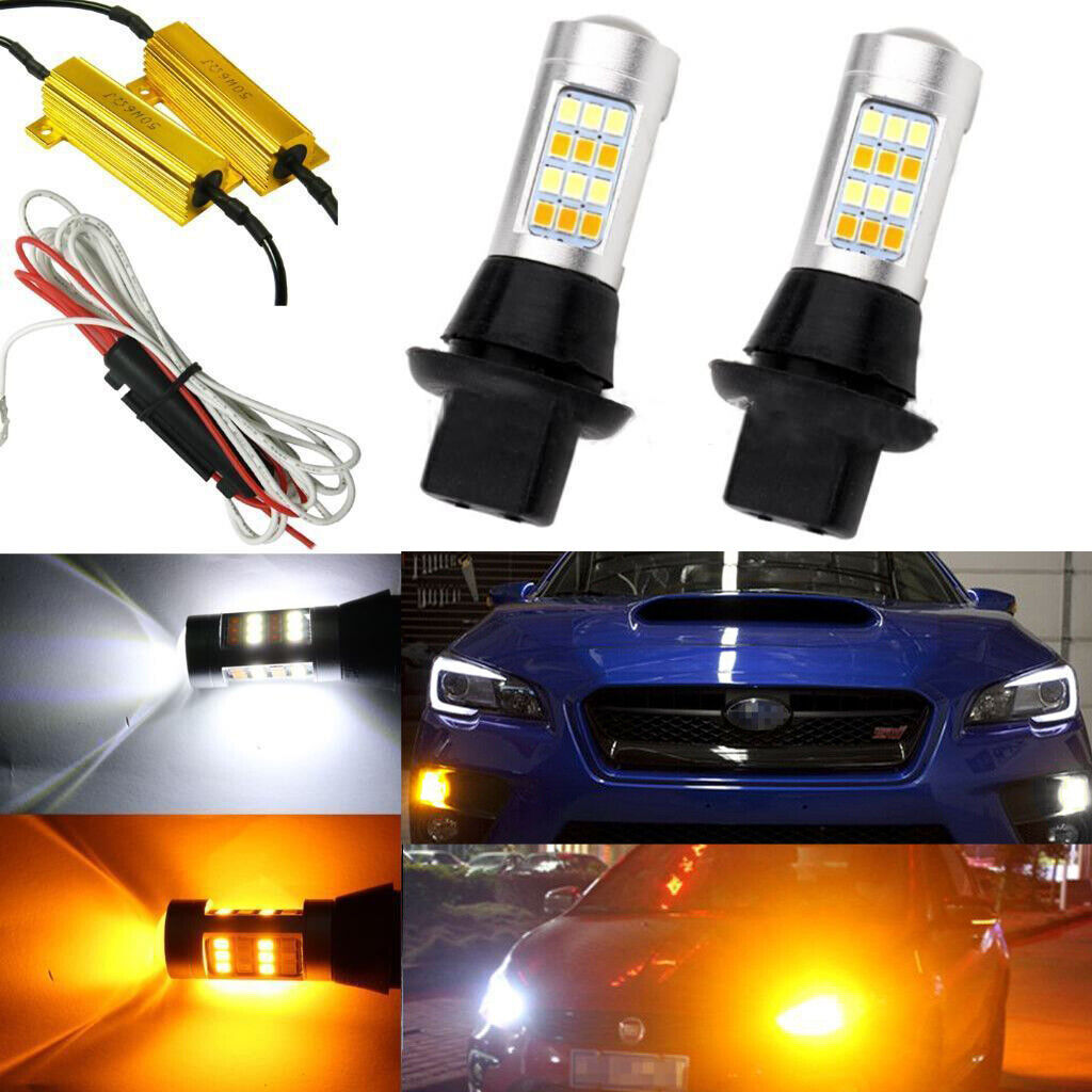 Details about Switchback LED Front Turn Signal DRL Bulbs Kit for 2015-2019  Subaru WRX STI BRZ