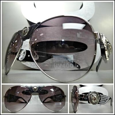 Rustic WESTERN COWGIRL Style Montana West SUNGLASSES Longhorn Concho & Hard (West Sunglasses)