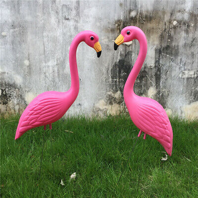 Lifelike Pink Flamingo Garden Decoration Lawn Sculpture Ornament Decor #3