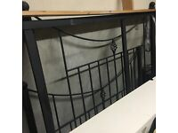 Black cast iron double bed frame