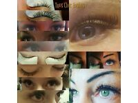 Semi permanent eyelash extension technician