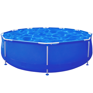 New Items-Round Swimming Pool with Steel Frame (sku90538) vidaXL Mount Kuring-gai Hornsby Area Preview