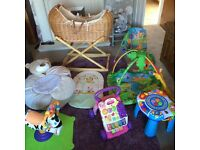 BABY BUNDLE!! Excellent condition including Moses basket and stand and activity mat plus much more