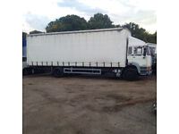 Left hand drive DAF 1900 Turbo Intercooling 18 Ton curtainsider. Manual injector pump.