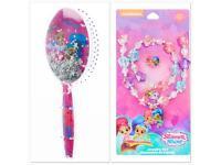 SHImmer & shine hair brush & Jewellery gift Set BRAND NEW