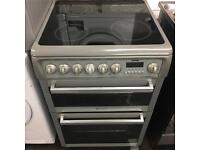 Grey Hotpoint electric cooker 60cm