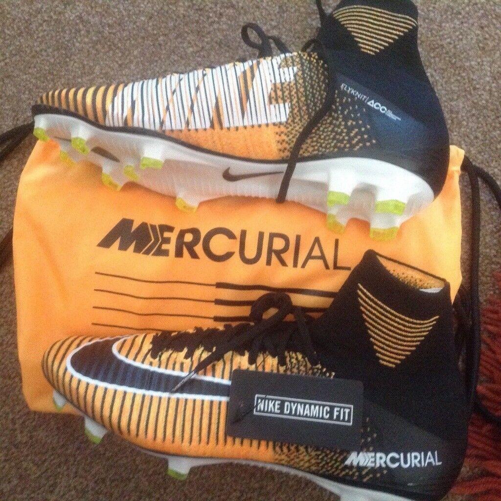 Nike mercurial FLYKNIT uk 9 brand new football boots