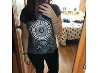 Zodiac Print Grey T Shirt