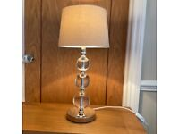 LARGE LAURA ASHLEY SELBY CRSTAL GLASS LAMP + shade.