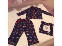 BHS boys woven pyjamas age 12-18 months