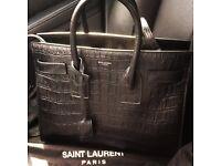 YSL Bag sac de jour Black Croc Leather Yves Handbag