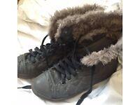 Grey Boots UK6