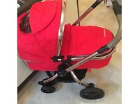 BARGAIN Red Mothercare Pram and Pushchair Excellent condition used a handful of times