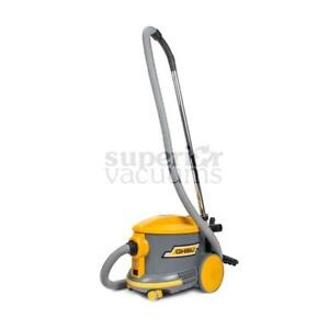 """Ghibli As6 4 Gallon Dry Canister Vacuum With Tools Floor Brush Wands Air Hose 2 Blade Receptacle 56 Db 1 1/4"""" Hose And T"""