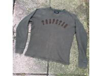 Trapstar khaki sweatshirt jumper size small