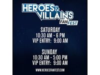 HVFF Heroes and Villains fan fest convention ticket