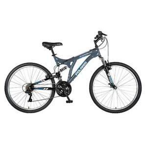 "New Polaris Scrambler Full Suspension Mountain Bike, 26"" Wheels, 19.5"" Frame, Men's Bike, Grey, PICKUP ONLY - DI1"