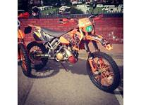 Ktm 200 exc road legal 1 hour use since full rebuild