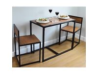 Compact Kitchen Dining Table and 2 Chairs