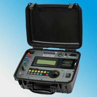 Tinsley Mo-5893-10at Portable Digital Micro-ohmmeter Dlro 10 Amps Temperature