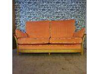 Ercol Renaissance 3 Seater Sofa and 2 Matching Chairs Light Oak