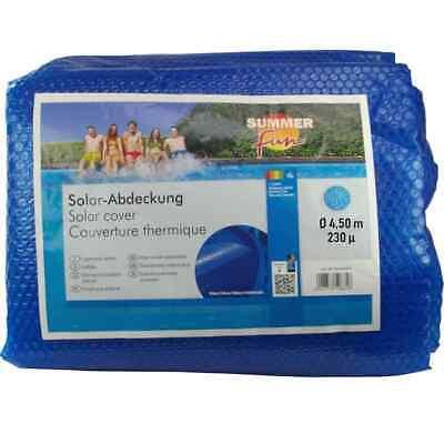 Summer Fun Cubierta Solar para Piscina de Verano Redonda PE Azul Protector